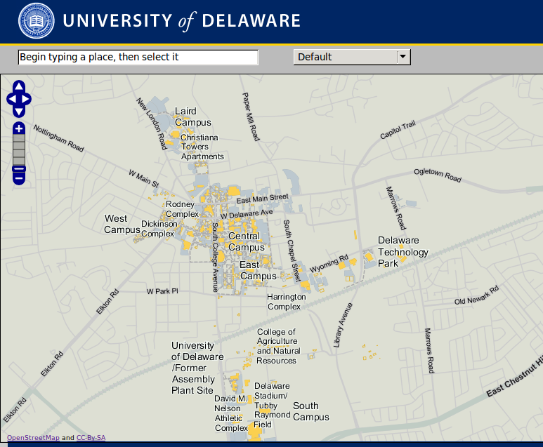 map of university of delaware campus Image Of The Week University Of Delaware Goes Osm Openstreetmap Blog map of university of delaware campus