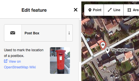 Selecting Post Box in the id ditor