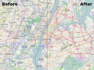 before-after road styles