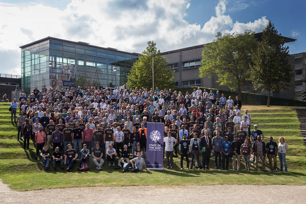 Gruppenfoto der State of the Map 2016