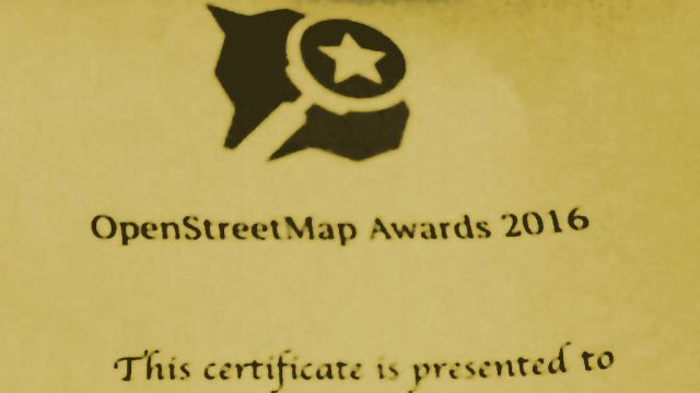 A winners certificate from OSM Awards 2016