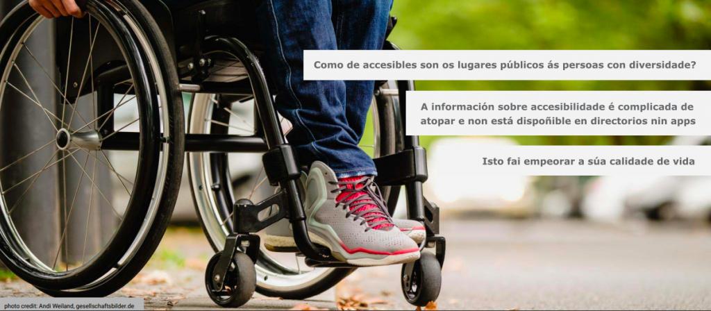 Cómo de accesibles son os lugares públicos ás persoas con diversidade? A información sobre accesibilidade é complicada de atopar e non está dispoñible en directorios ou apps. Isto fai empeorar a súa calidade de vida.
