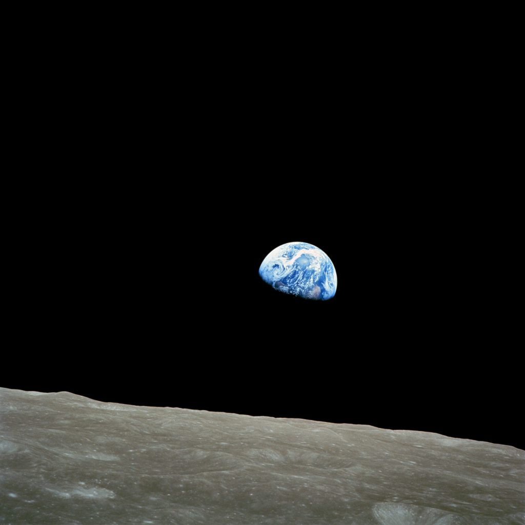 The Earth from the Moon, by NASA