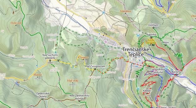 Schermata del sito freemap.sk con lo stile obsoleto.