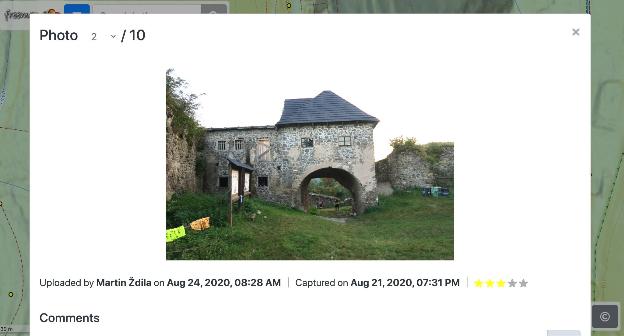 Un esempio della galleria fotografica di freemap.sk.